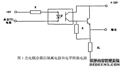 图1即为光电耦合器的隔离电路